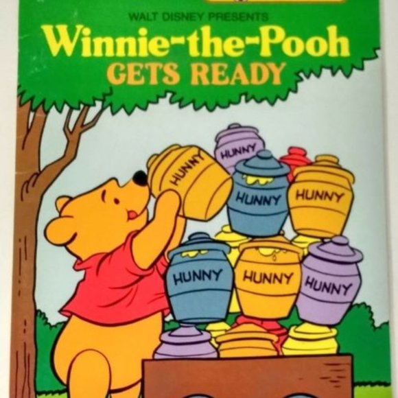Watercolor Storybook Disney WINNIE THE POOH 1979 c